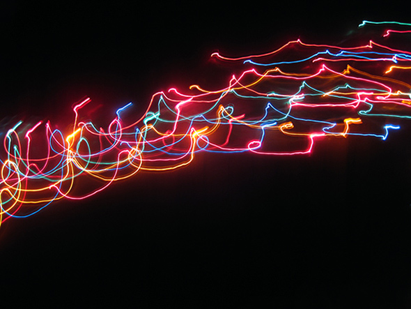 beautiful christmas light trails